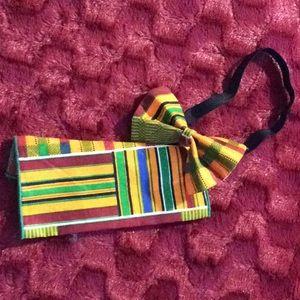 Other - New, handmade traditional kente print bowtie set
